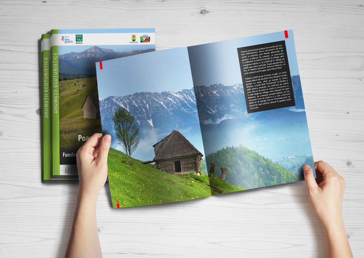 Conservarea peisaului Agro-pastoral broșură - mockup