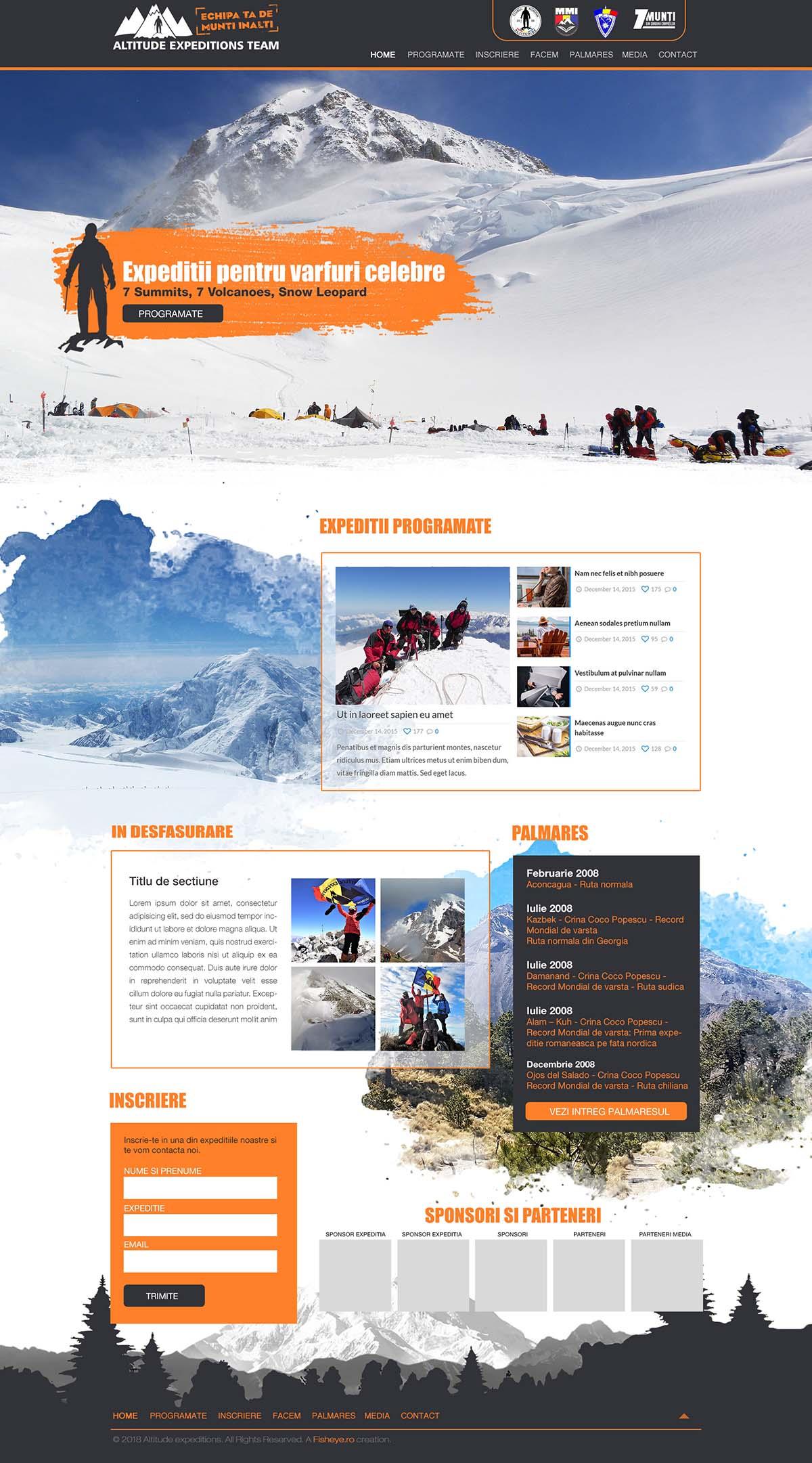 Webdesign Altitude Expeditions Team