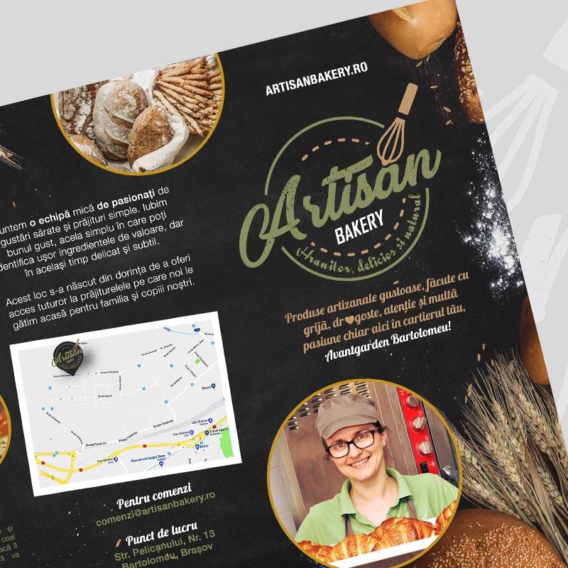 Design Broșură Artisan Bakery