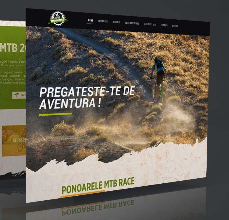Webdesign banner - Ponoarele MTB