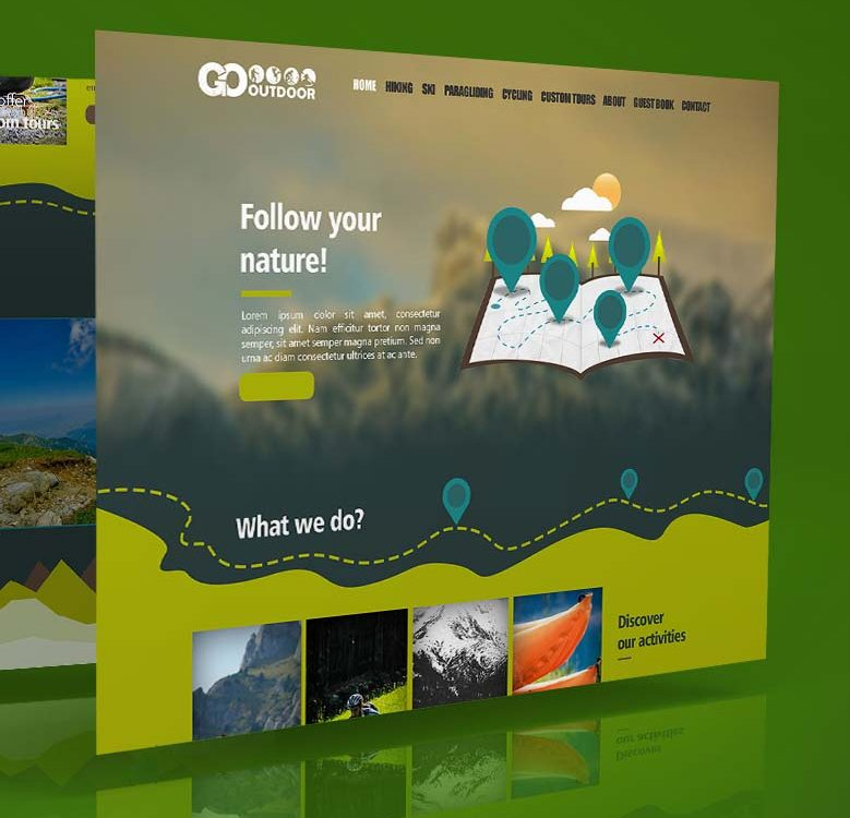Webdesign mockup - Go Outdoor