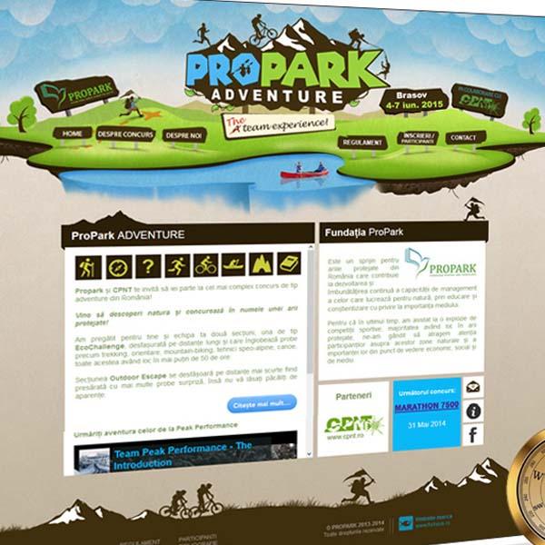Proprk Adventure - webdesign