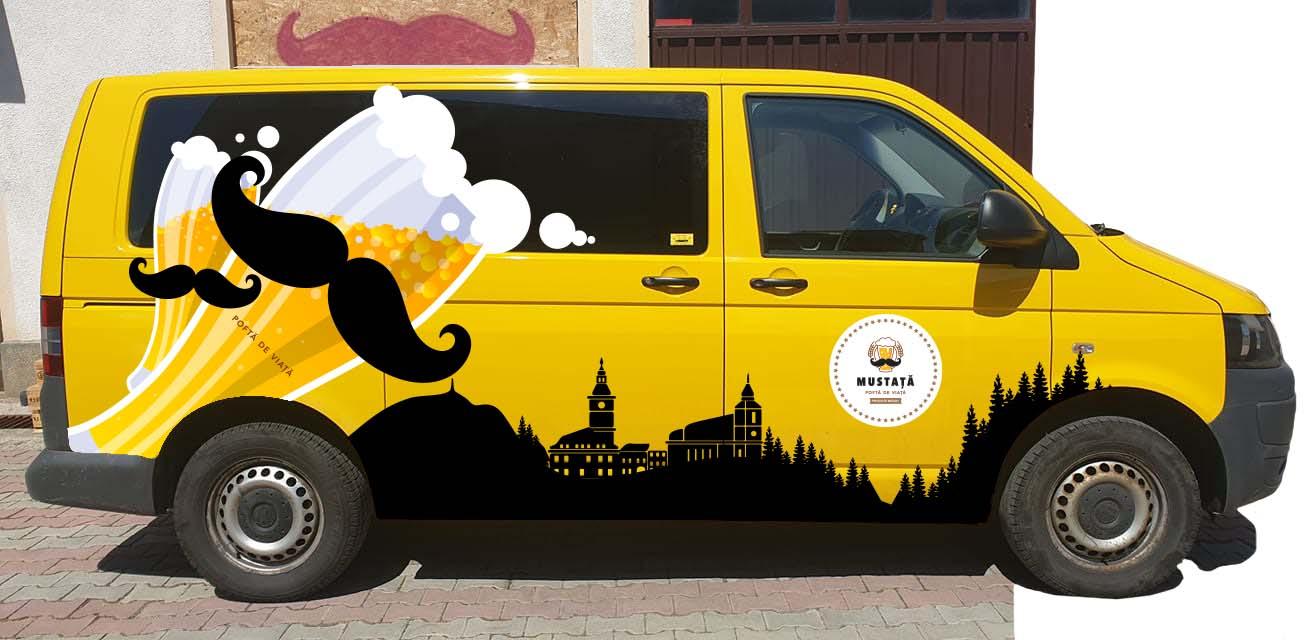 Design colantare dubă Mustața de bere