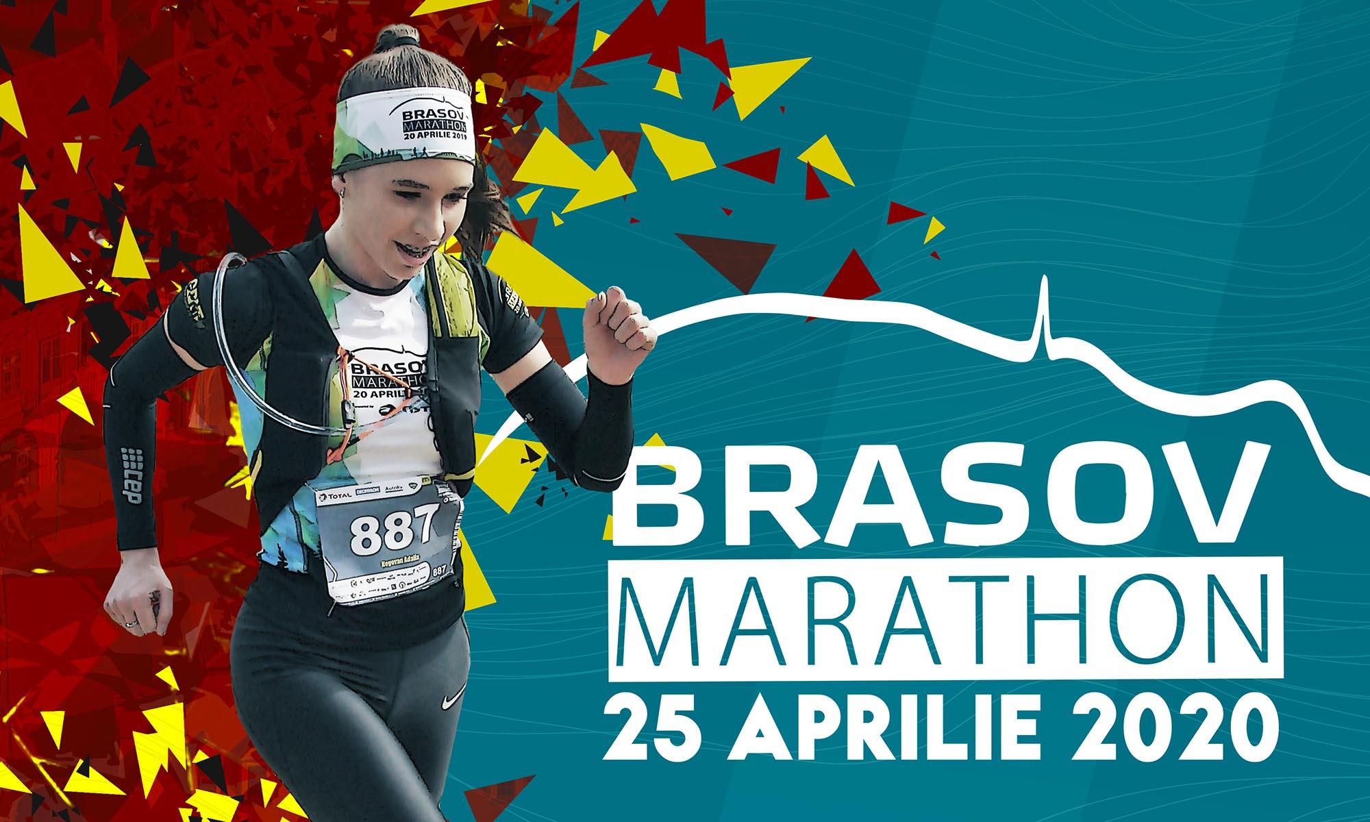 Grafică afiș Brașov Marathon