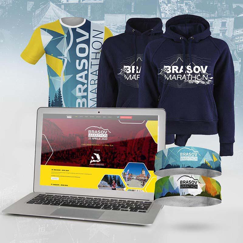 Prezentare grafică produse și web Brașov Marathon