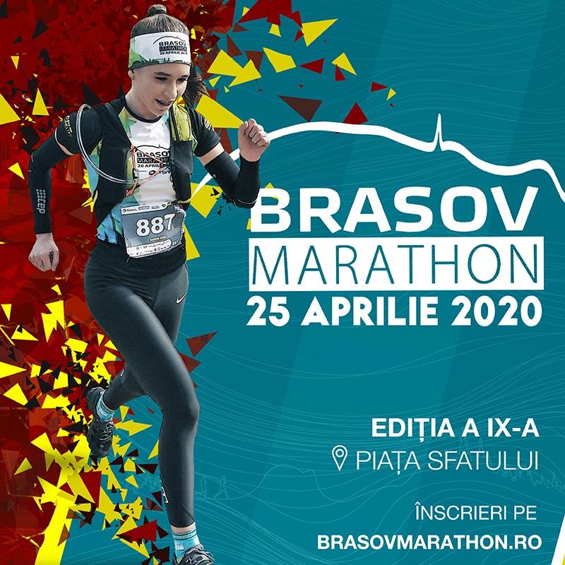 Afiș Brașov Marathon - grafică