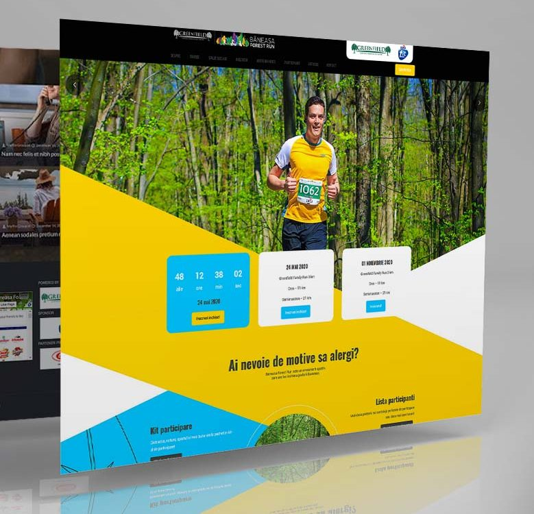 Webdesign mockup Băneasa Forest Run