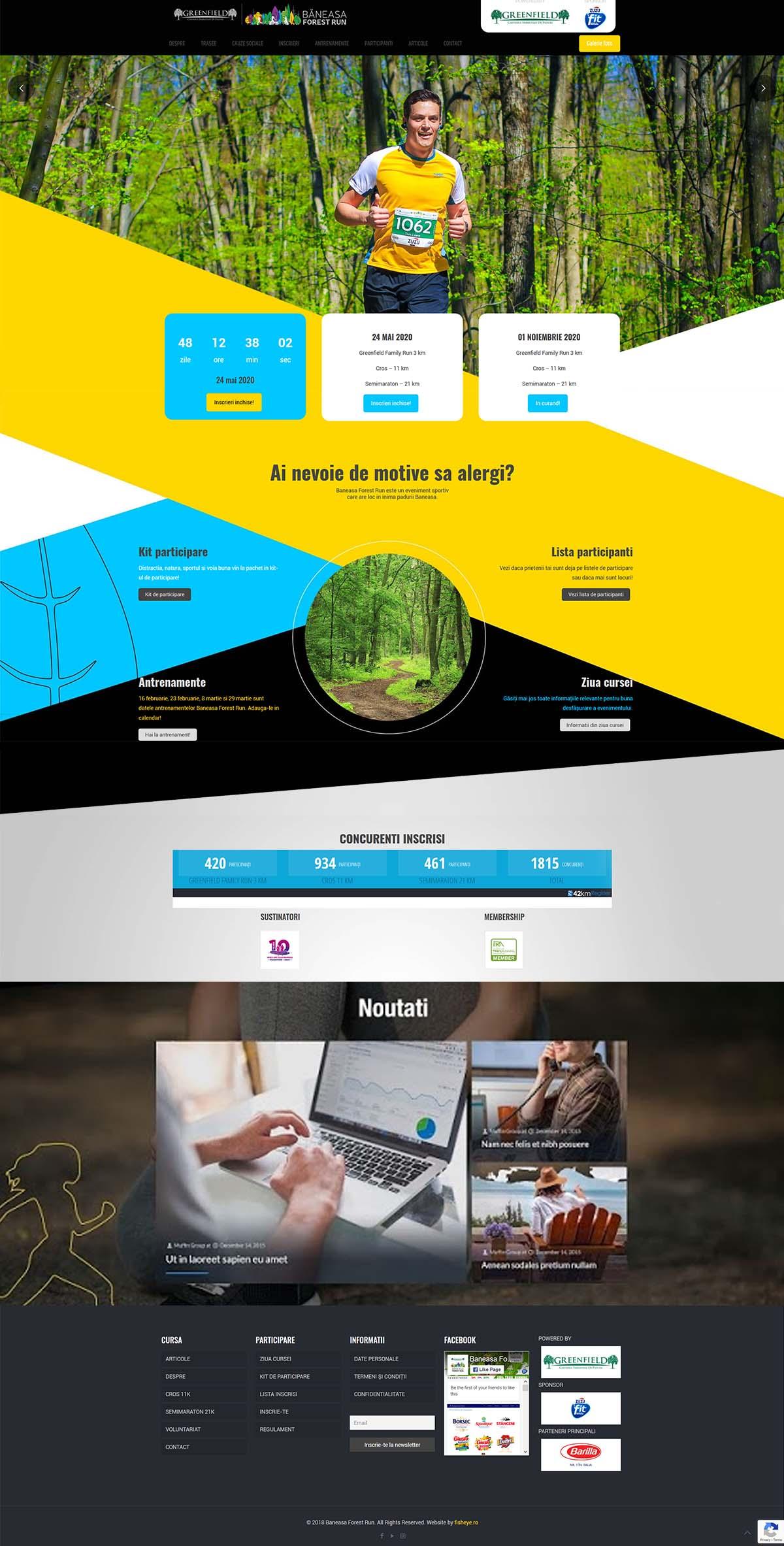 Webdesign Băneasa Forest Run