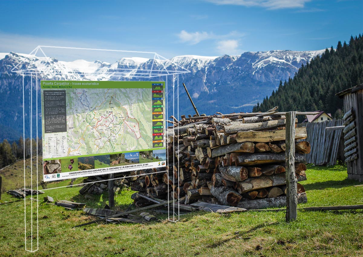 Mockup hartă Conservarea peisaului Agro-pastoral