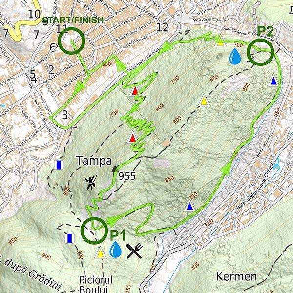 Harta traseu - Brașov Marathon