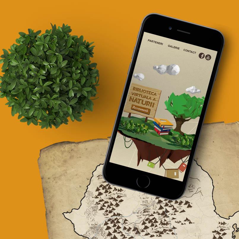 Natura în școli Pașaportul copiilor - mobil mockup