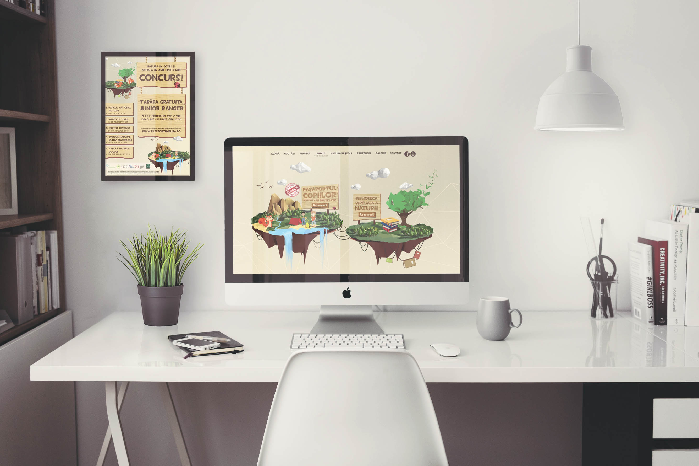 Mockup birou Natura în școli