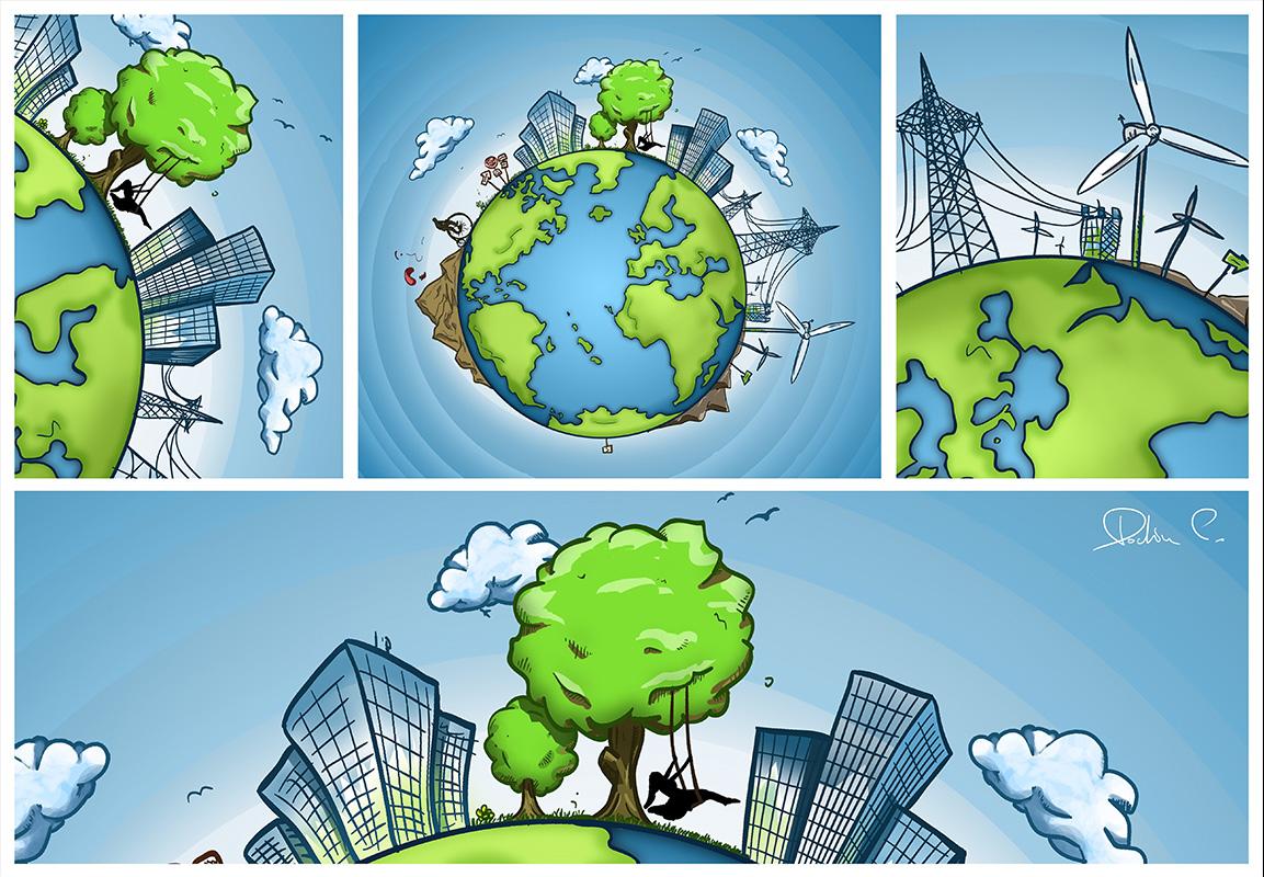 Planeta Verde - Illustration by Fisheye.ro