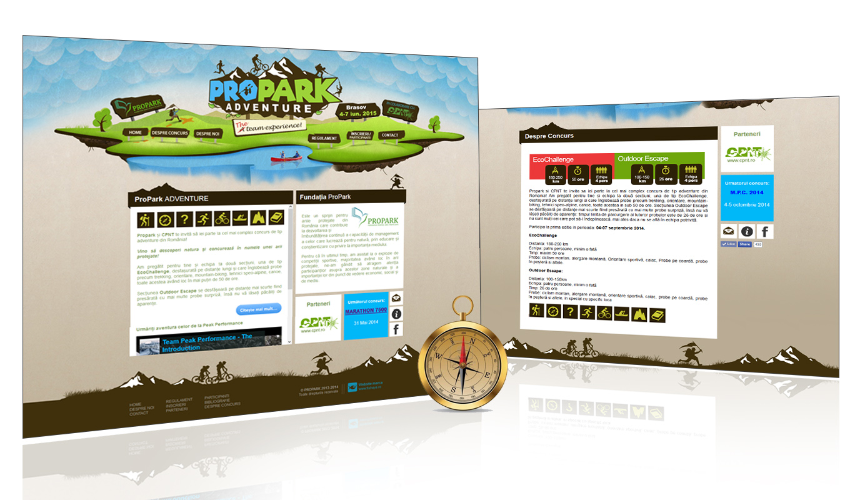 Propark Adventure webdesign