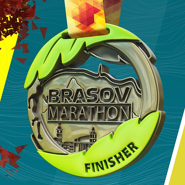 Brașov Marathon - grafică medalie simulare