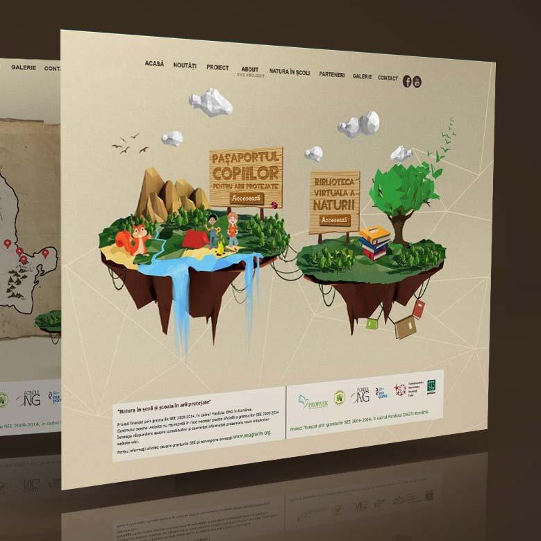 Webdesign mockup Pașaportul copiilor