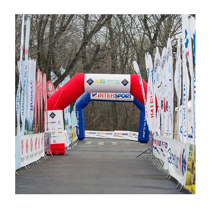 Băneasa Trail Run - grafică bannere poartă eveniment