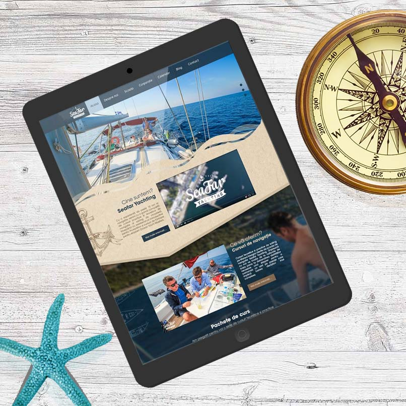 Mockup tabletă - Seafar Yachting