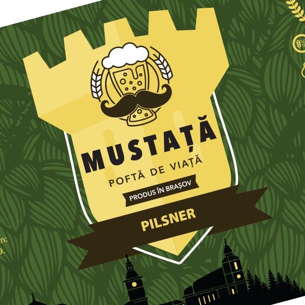 Design etichetă - Mustața de bere