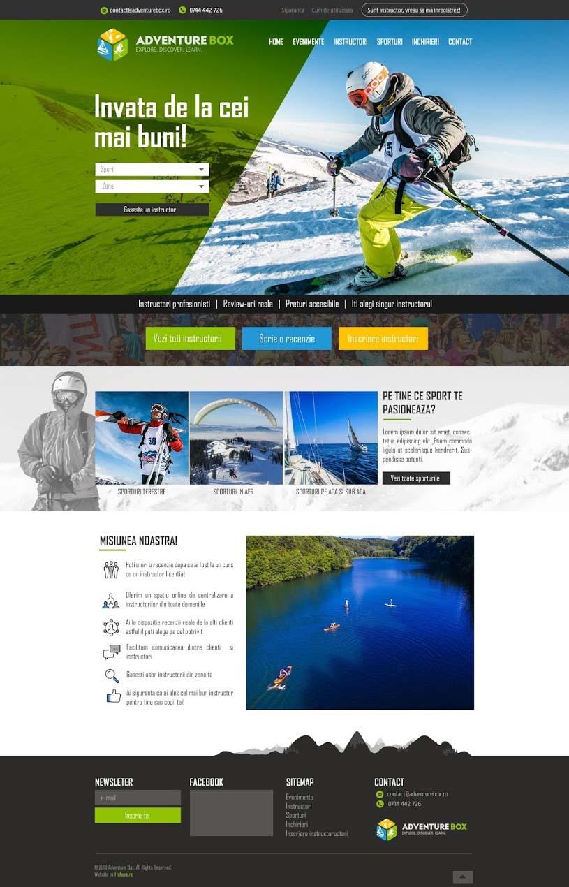 Webdesign - AdventureBox