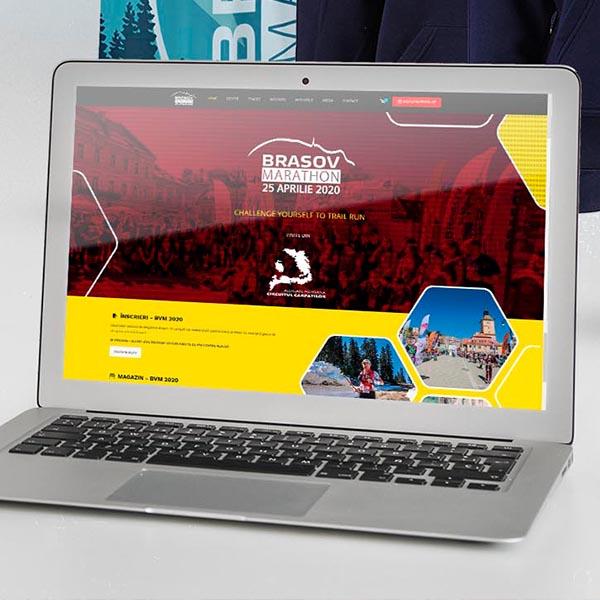 Mockup Webdesign Brașov Marathon