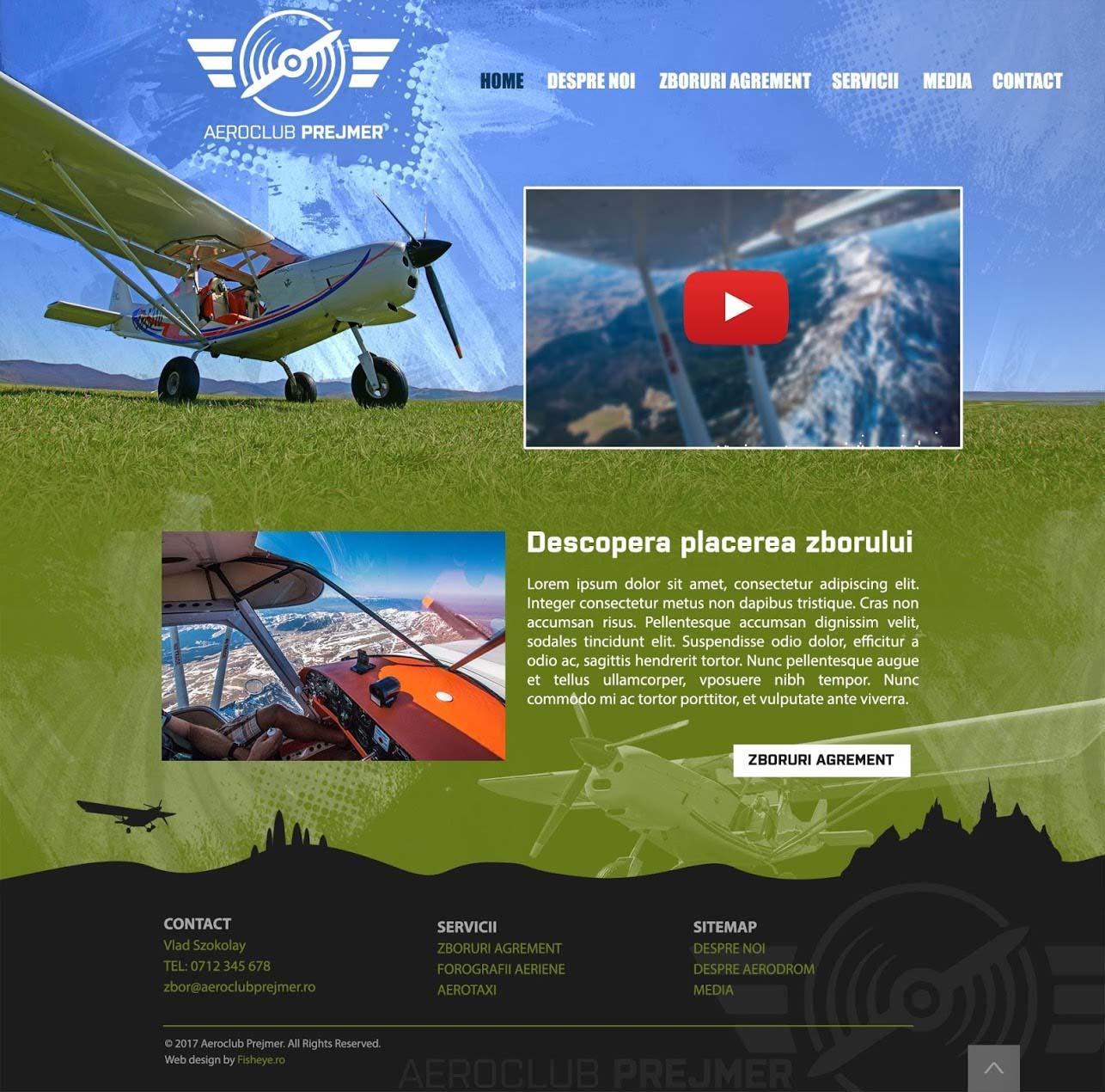 Webdesign Zbor peste Carpați